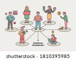 one man is standing at the... | Shutterstock .eps vector #1810395985
