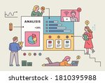 a business web page is floating ... | Shutterstock .eps vector #1810395988