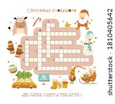 christmas crossword in english. ... | Shutterstock .eps vector #1810405642