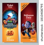 ticket for halloween party frame | Shutterstock .eps vector #1810408795