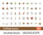 coffee icon sets. containing 50 ...
