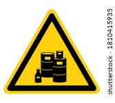 warning chemical storage area...   Shutterstock .eps vector #1810415935