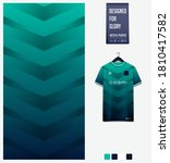 fabric textile design in green... | Shutterstock .eps vector #1810417582