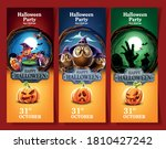 set of banners for halloween... | Shutterstock .eps vector #1810427242