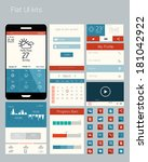ui elements for web and mobile... | Shutterstock .eps vector #181042922
