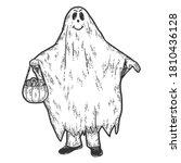 halloween  ghost costume.... | Shutterstock .eps vector #1810436128