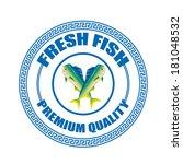 fresh fish premium quality... | Shutterstock .eps vector #181048532