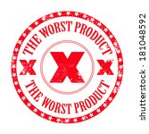 the worst product grunge stamp... | Shutterstock .eps vector #181048592