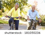 senior couple on cycle ride in... | Shutterstock . vector #181050236