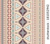 tribal striped seamless pattern.... | Shutterstock .eps vector #181052942