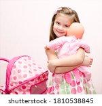 Cute Smiling Little Girl Child...