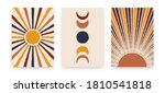 abstract sun moon posters.... | Shutterstock .eps vector #1810541818