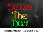 seize the day concept | Shutterstock . vector #181055342
