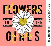 flowers to the girls text ... | Shutterstock .eps vector #1810564738