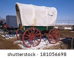 Amish Buggies And An Old...