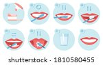 collection of clean teeths... | Shutterstock .eps vector #1810580455