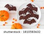 Halloween Bat Cookies  Above...