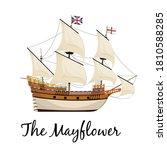 the mayflower ship. pilgrim... | Shutterstock .eps vector #1810588285