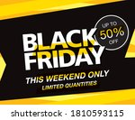 black friday sale poster layout ... | Shutterstock .eps vector #1810593115