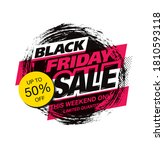 black friday sale poster layout ... | Shutterstock .eps vector #1810593118