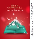 merry christmas happy new year... | Shutterstock .eps vector #1810597462