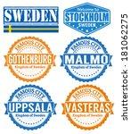 set of grunge rubber stamps... | Shutterstock .eps vector #181062275