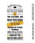 bathroom print design  toilet...   Shutterstock .eps vector #1810624612