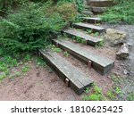 Wooden Steps Along The Ground....