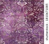 Luxury Purple And Tan Damask...