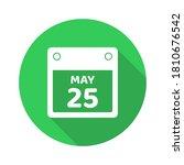 flat design calendar icon vector
