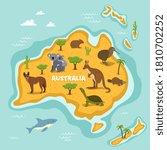 australian animal. australia...   Shutterstock .eps vector #1810702252