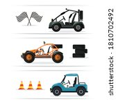 buggy car. vector terrain... | Shutterstock .eps vector #1810702492