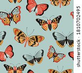 butterfly and moth. endless... | Shutterstock .eps vector #1810702495