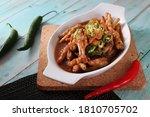Chicken Claw Stew. Indonesian...