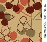 hand drawn cherry seamless... | Shutterstock .eps vector #181070816