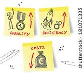 economic efficiency refers to... | Shutterstock .eps vector #181071335