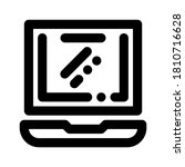 icon laptop with style outline