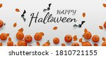 Happy Halloween Banner. Flat...