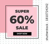 modern super sale banner 60 ... | Shutterstock .eps vector #1810724242