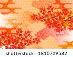 autumn leaves autumn japanese... | Shutterstock .eps vector #1810729582