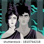 greek mythology persephone...   Shutterstock .eps vector #1810766218
