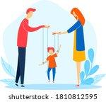 family woman man child problem  ... | Shutterstock .eps vector #1810812595