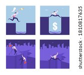 set of business people in... | Shutterstock .eps vector #1810817635