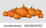 halloween orange pumpkin set....   Shutterstock .eps vector #1810826932
