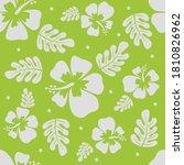 beautiful hibiscus seamless...   Shutterstock .eps vector #1810826962