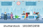 new normal  social distancing...   Shutterstock .eps vector #1810852858