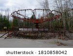 An Old Broken Carousel In The...