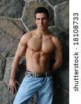 shirtless muscular male model... | Shutterstock . vector #18108733