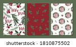 traditional christmas card sets ... | Shutterstock .eps vector #1810875502