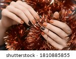 Female Hands With Christmas...